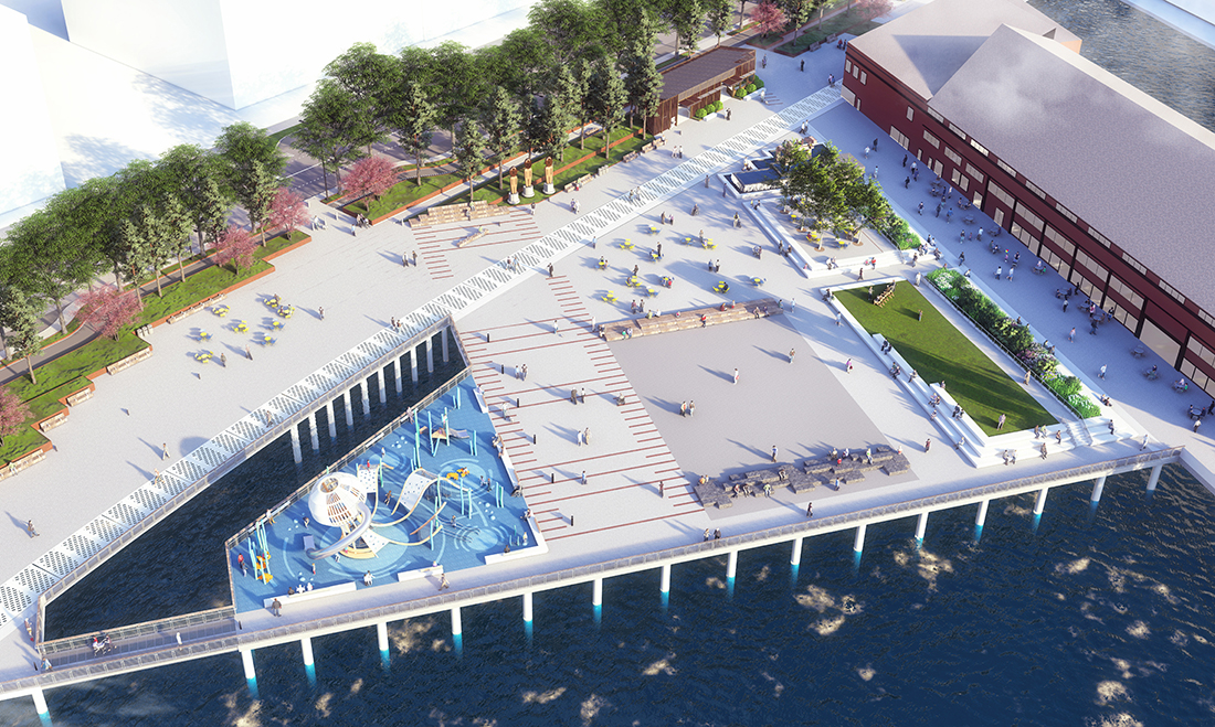 Another aerial view of the new pier 58 design.