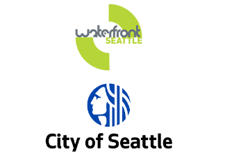 City of Seattle and Waterfront Seattle logos